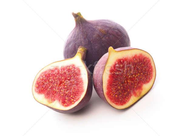 Twee vers witte geïsoleerd Rood vruchten Stockfoto © andreasberheide