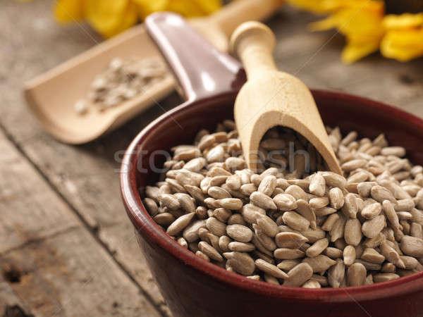 Stock photo: Healthy sunflower seeds