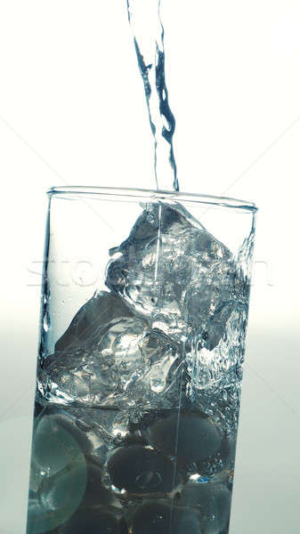 Pouring fresh water in a glass Stock photo © andreasberheide