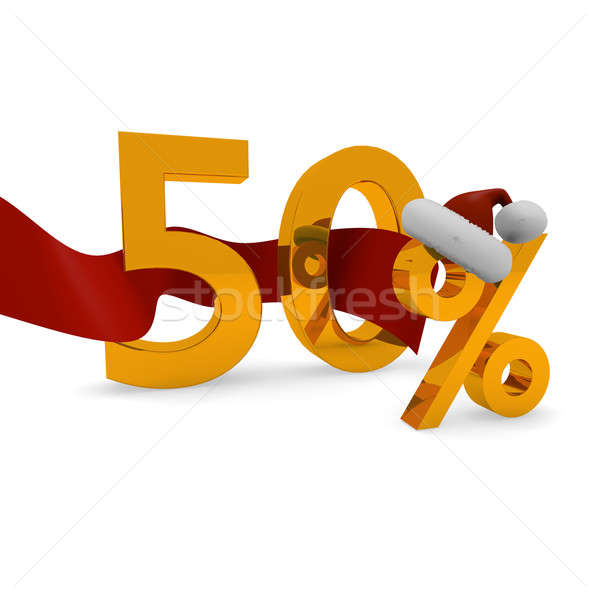 Fifty percent discount Stock photo © andreasberheide