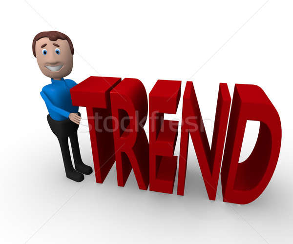 3D affaires mot tendance cartoon Photo stock © andreasberheide