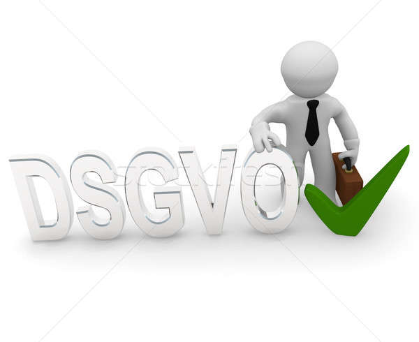 3d character with DSGVO and check mark Stock photo © andreasberheide