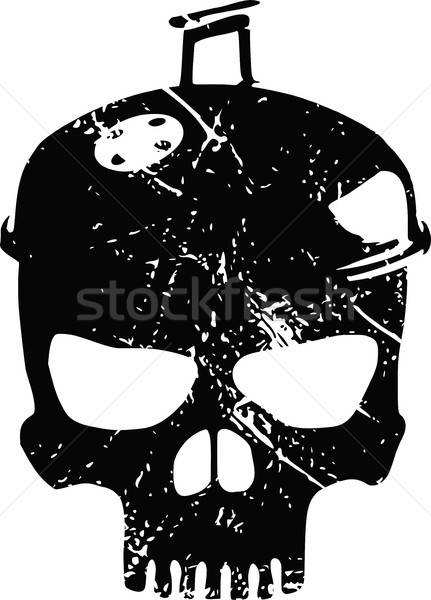 Barbecue skull with scratches Stock photo © andreasberheide