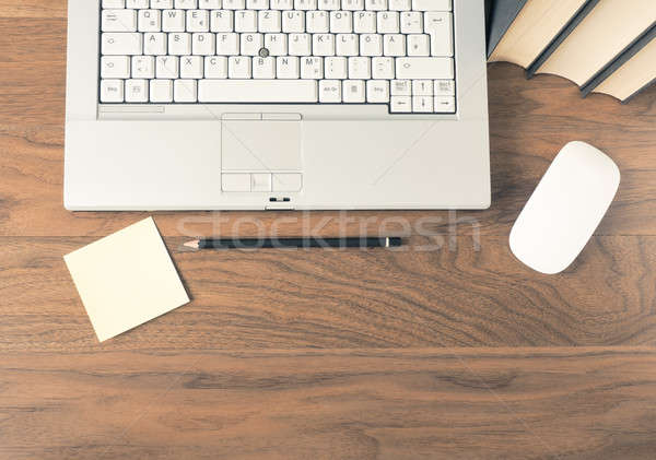 Laptop on desk header Stock photo © andreasberheide