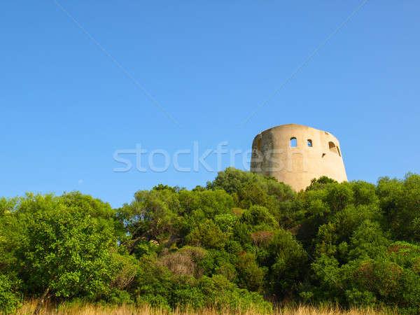 Old watchtower on Sardinia Stock photo © andreasberheide