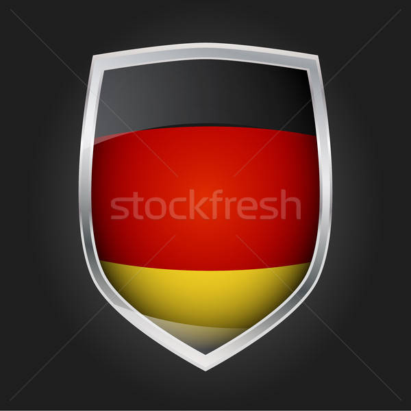 Kalkan bayrak Almanya dizayn cam Metal Stok fotoğraf © andreasberheide
