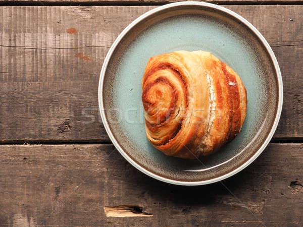 Sweet cinnamon pastry top view Stock photo © andreasberheide