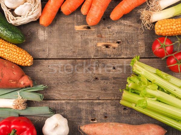 Fresh vegetables on wood Stock photo © andreasberheide