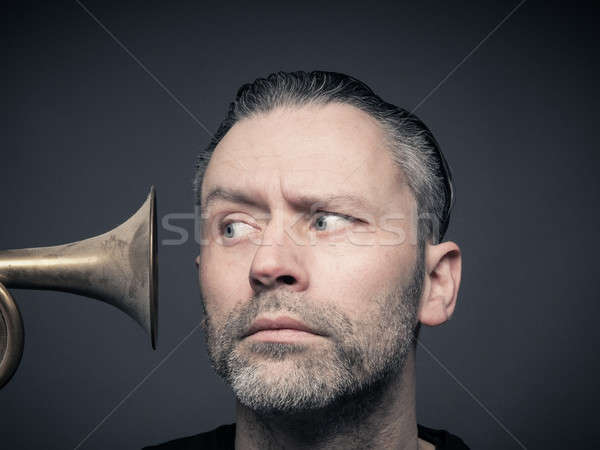 Man with trumpet Stock photo © andreasberheide
