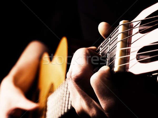 Jogar flamenco guitarra guitarrista tradicional Foto stock © andreasberheide