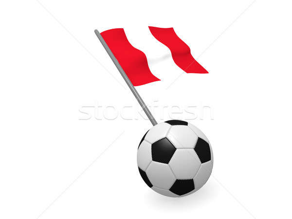 Futbol topu bayrak Peru futbol şampiyonluk 3D Stok fotoğraf © andreasberheide