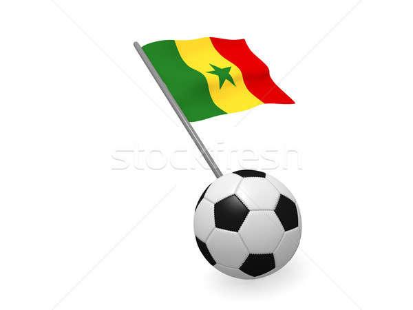 Futballabda zászló Szenegál futball bajnokság 3D Stock fotó © andreasberheide