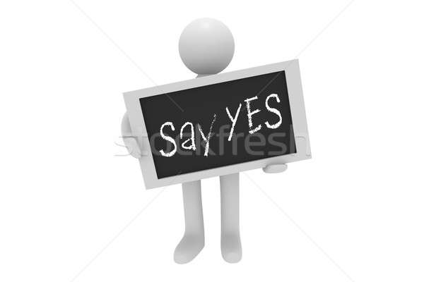 Say Yes Stock photo © andreasberheide