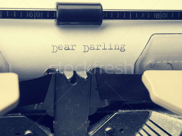 Vintage letter with the words Dear Darling Stock photo © andreasberheide