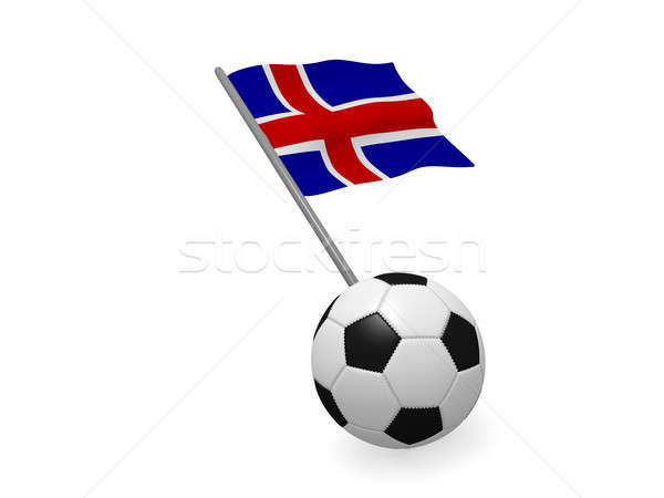 Soccer ball with the flag of Iceland Stock photo © andreasberheide