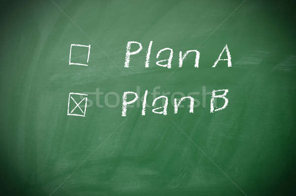 Plan A and Plan B Stock photo © andreasberheide