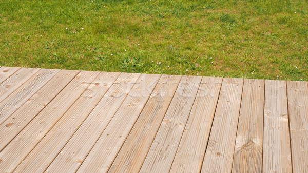 木製 デッキ 草 庭園 スペース 文字 ストックフォト © andreasberheide