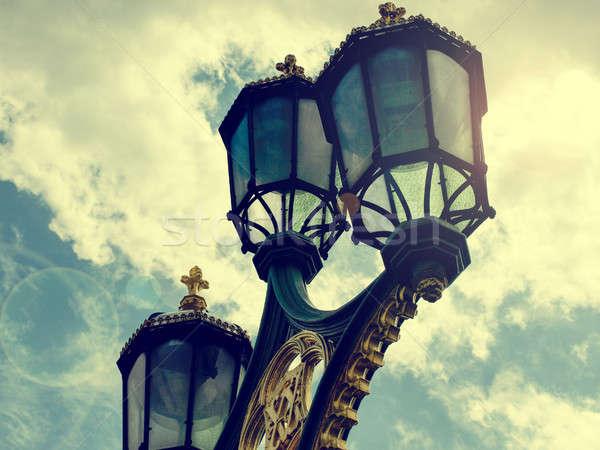 Old street lamp in London Stock photo © andreasberheide