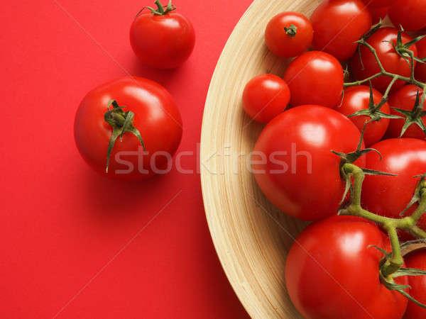 Lezzetli domates domates bambu çanak Stok fotoğraf © andreasberheide