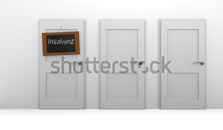 Stock photo: Insolvency