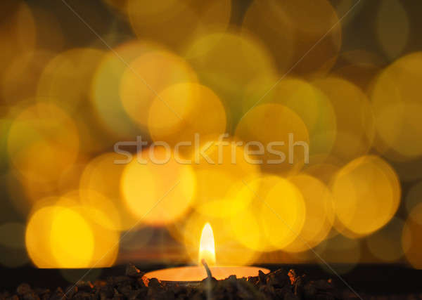 Romantic candle light Stock photo © andreasberheide