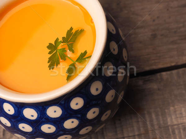 Spicy pumpkin cream soup Stock photo © andreasberheide