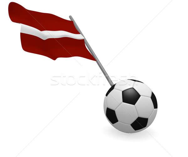 Soccer ball with the flag of Latvia Stock photo © andreasberheide