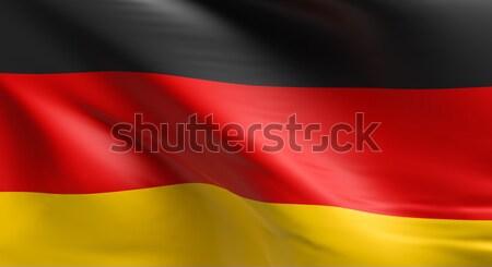 Zászló Németország 3D renderelt kép terv háttér Stock fotó © andreasberheide