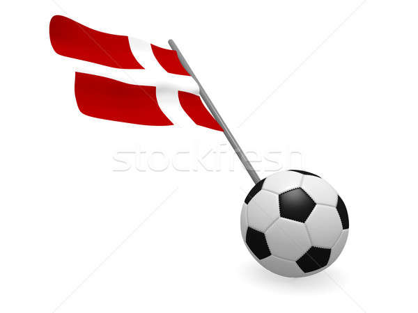 Balón de fútbol bandera Dinamarca fútbol campeonato 3D Foto stock © andreasberheide