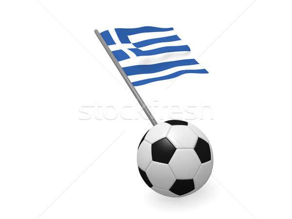 Soccer ball bandiera Grecia calcio campionato 3D Foto d'archivio © andreasberheide