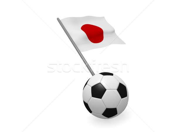Ballon pavillon Japon football championnat 3D Photo stock © andreasberheide