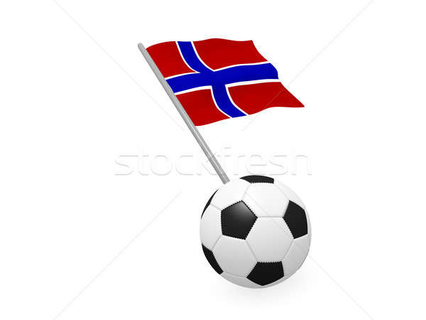 Soccer ball with the flag of Norway Stock photo © andreasberheide