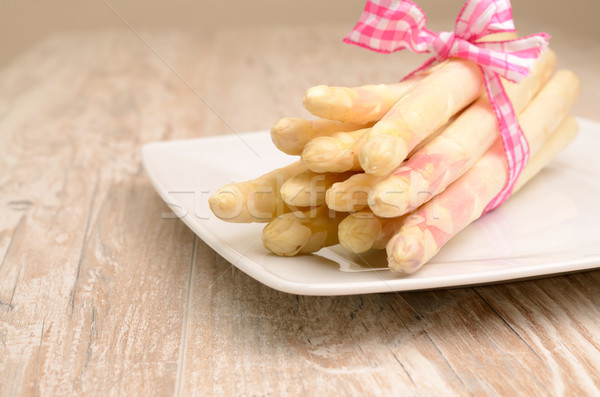 White asparagus Stock photo © andreasberheide