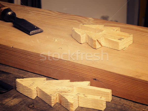 Hout werken beitel houten christmas Stockfoto © andreasberheide