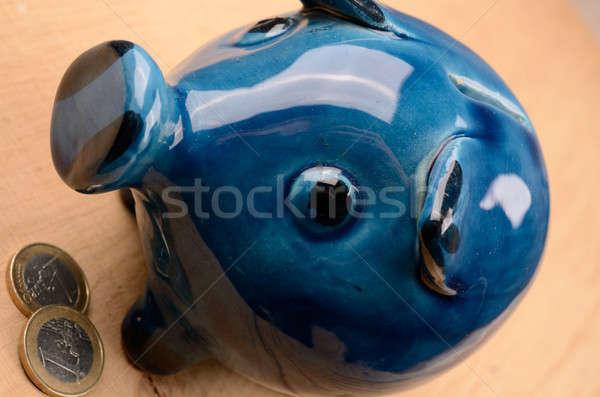 деньги старые керамической Piggy Bank монетами Сток-фото © andreasberheide