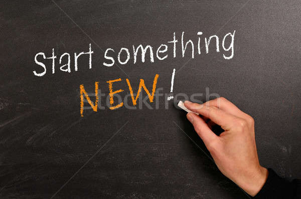 Start something NEW ! Stock photo © andreasberheide
