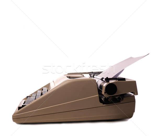 Vintage typewriter on white Stock photo © andreasberheide