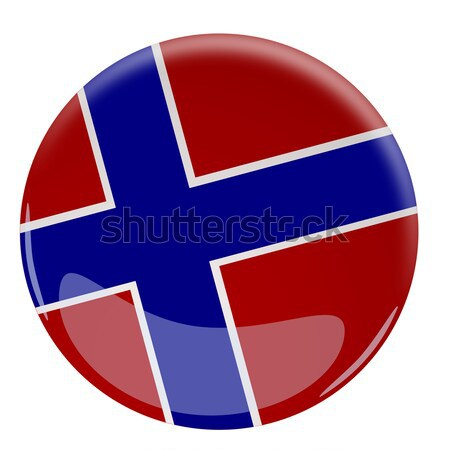 Glossy button with the flag of Iceland Stock photo © andreasberheide