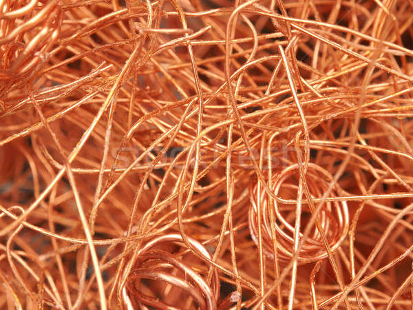 Cobre textura imagen negocios naranja Foto stock © andreasberheide