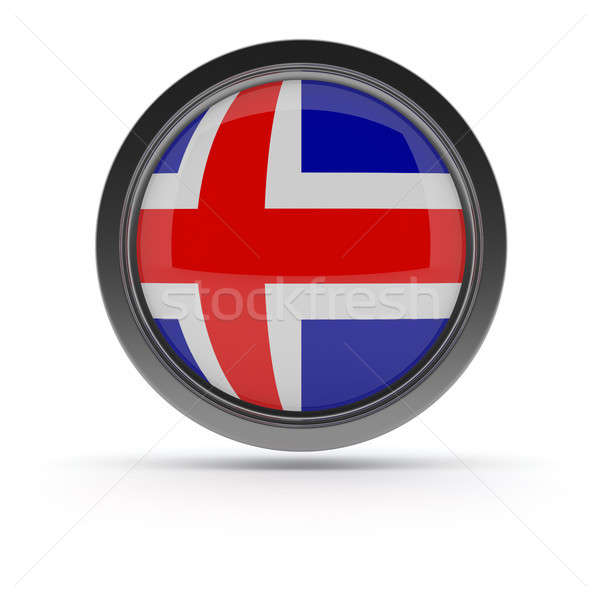 Steel badge with flag of Iceland Stock photo © andreasberheide