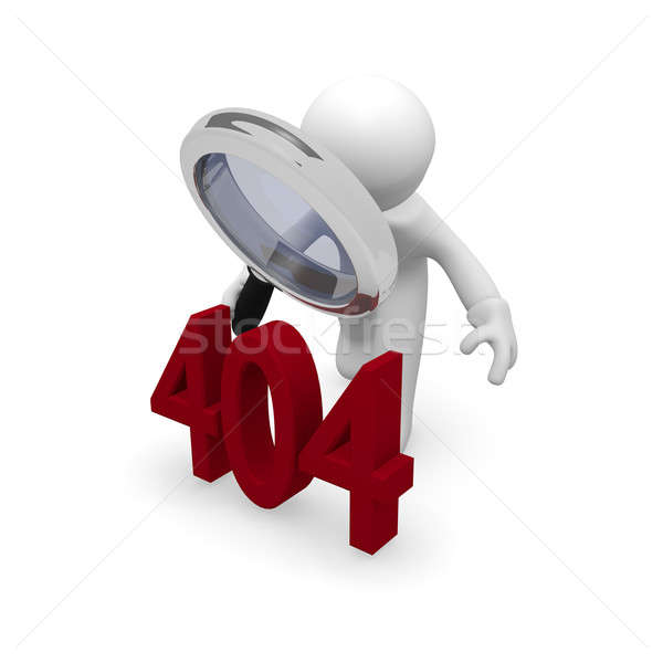 404 Error concept in 3d Stock photo © andreasberheide