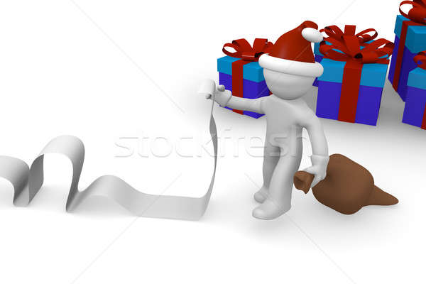 Santa with a long wish list Stock photo © andreasberheide