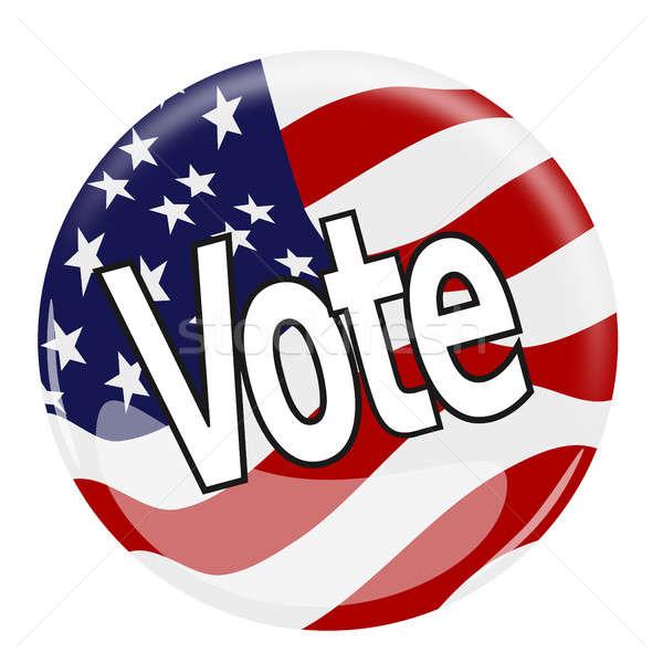 голосования кнопки иллюстрация флаг Соединенные Штаты Сток-фото © andreasberheide