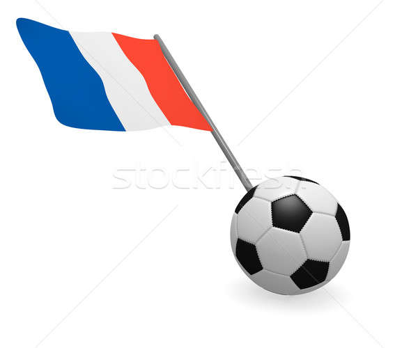 Soccer ball with French flag Stock photo © andreasberheide
