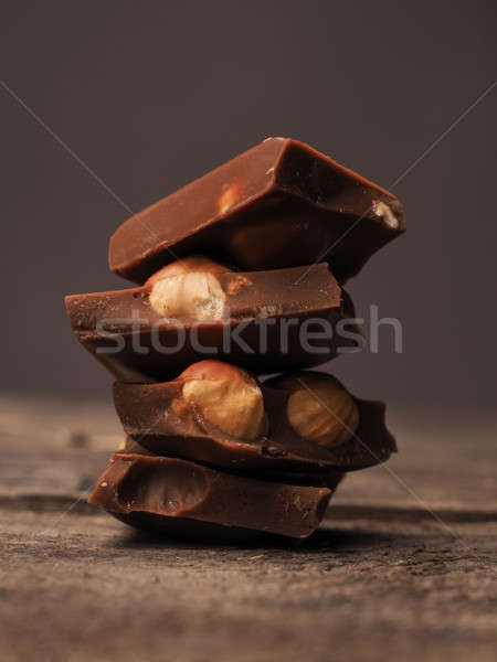 Stacked chocolate bars Stock photo © andreasberheide