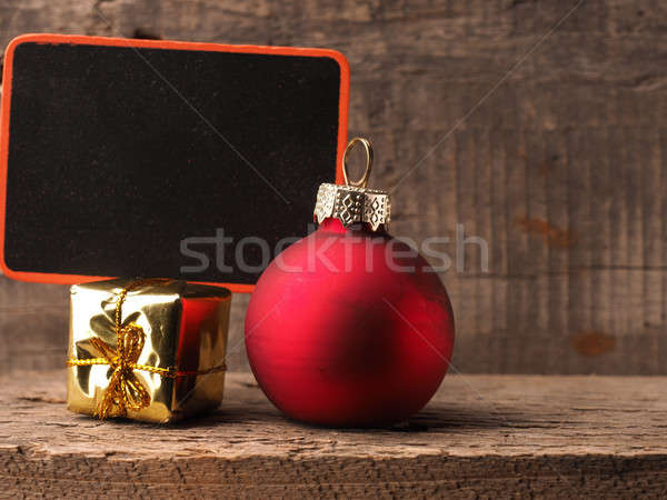 Christmas decoration with chalkboard Stock photo © andreasberheide