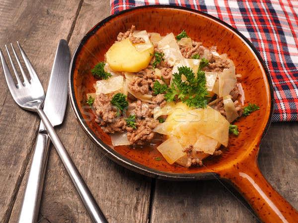 Bianco cavolo patate carne ceramica Foto d'archivio © andreasberheide