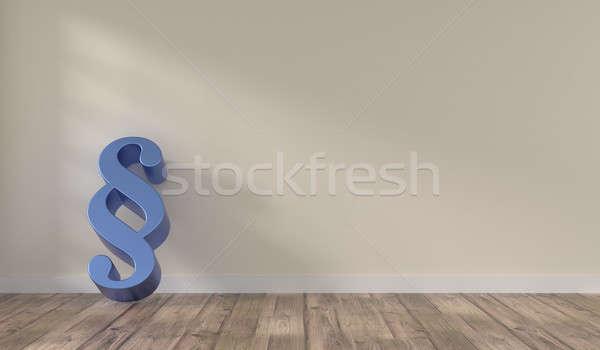 Zimmer groß Absatz Symbol hellen blau Stock foto © andreasberheide