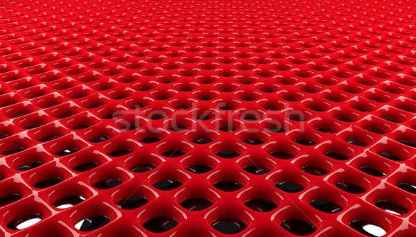 Rouge grille modèle modernes 3D Photo stock © andreasberheide
