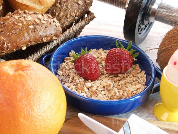 Fitness breakfast Stock photo © andreasberheide